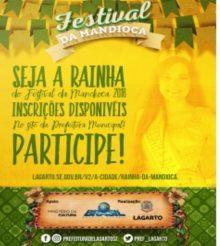 Prorrogadas inscrições para Rainha do Festival da Mandioca